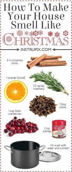 fall recipes 6 Easy Stovetop PotPourri Recipes For Every Season Ideen fr Weihnachtsdekoration House Smell Good, House Smells, House Cleaning Tips, Cleaning Hacks, Diy Hacks, Spring Cleaning, All Things Christmas, Christmas Holidays, Cozy Christmas