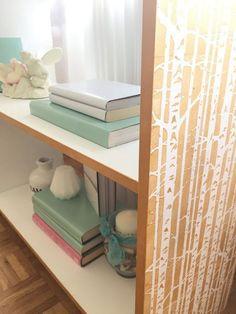 DIY stencil bookcase | Birch Forest | Cutting Edge Stencils