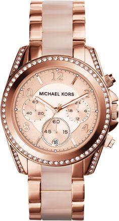 Michael Kors Blair Rose Gold Lady Chronograph