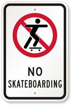 skateboard traffic signs | No Skateboarding