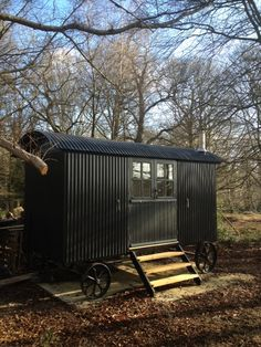 A shepherd's hut delivered to the New Forest
