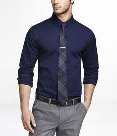 32777a9c6d26 1mx dress shirt. tie.tie bar. black. teacher dress code. express ...