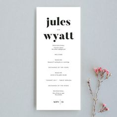 """Nolita"" - Unique Wedding Programs in Silk by annie clark."