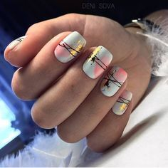 52 Glamor Foil Nail Art Designs is part of nails Design Cute Fun - Nail arts are always a thing to emphasize your beauty and glamour Gorgeous nails are Cute Nails, Pretty Nails, My Nails, Shellac Nails Fall, Gel Manicure Nails, Gel Pedicure, Foil Nail Art, Foil Nails, Nails With Foil