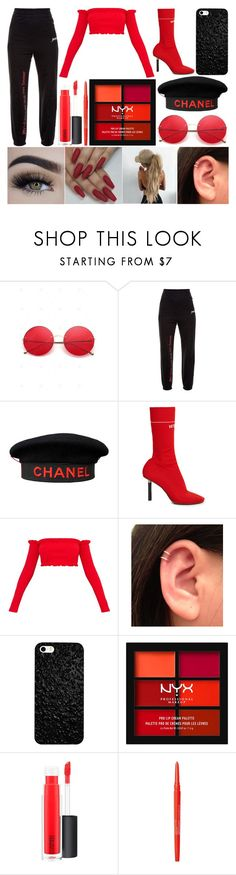 """""""Festival"""" by susanna-trad ❤ liked on Polyvore featuring Vetements, Chanel, NYX, MAC Cosmetics and Smashbox"""
