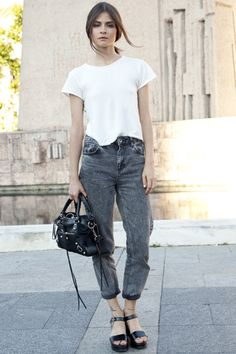 Street style y looks de celebrities y blogueras | Moda en la Calle | TELVA Desfile 2014 - TELVA.com