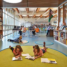 Love all the space for the kids on the floor - Wilkes Elementary School