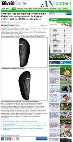 The Daily Mail cover Rikoset Elite shin guards - http://www.rikoset.co.uk/elite-handcrafted-limited-edition/