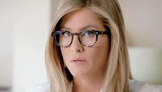 Jennifer Aniston's glasses in new Aveeno ad: Oliver Peoples Sheldrake in Dark Tortoise Black