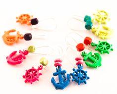 wheel earrings anchor earrings funky earrings nautical by dauz