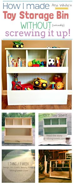 TheChallenge:To build a toy storage bin for Lucas's new big boy room. He's 2 and he has TONS of toys. My Inspiration:I heard about Ana White for the first time last week when I was listeni…