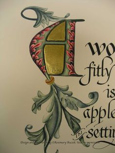 A Place To Flourish: Flourish Friday - Rosemary Buczek and The Illuminated Letter