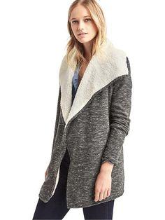 GAP Sherpa-lined spacedye cardigan