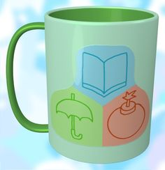 Book, Umbrella, Bomb Mug / #Tableware