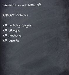 CrossFit home WOD. AMRAPs are perfect for periodically checking fitness progress Amrap Workout, Workout Challenge, Tabata, Crossfit Workouts At Home, Fun Workouts, Weight Workouts, Logi Methode, Used Fitness Equipment, Sit Ups