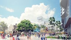 City of Parramatta has released an updated concept design by 42 for the public domain at the heart of its $2 billion Parramatta Square CBD urban renewal project.