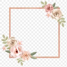 Blue Flower Png, Pink Rose Png, Birds Of Paradise Flower, Small White Flowers, Flower Background Wallpaper, Pink Paper, Wedding Frames, Floral Border, Pink And Gold