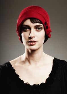 9e0b81779d0 Red Cloche by yellowfield7 on Etsy Wearing A Hat