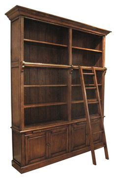 Double Bookcase with Ladder- no matter what happens I will have this in my home some day