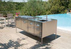 Image result for cuisine exterieure en aluminium