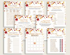 Games Bridal Shower Games Fall Bridal Shower Games Bridal Shower Autumn Games Brown Yellow party theme party planning party stuff YCZ2S #bridalshower #bride-to-be #bridetobe