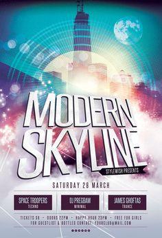 Modern Skyline Flyer by styleWish on Graphicriver
