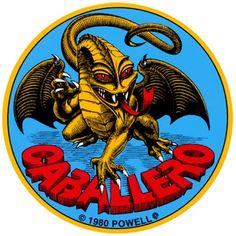 "Powell Peralta Steve Cabellero Dragon 4"" Skateboard Sticker.  Click on picture to purchase."