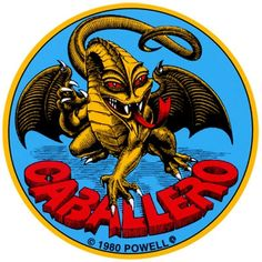 "Powell Peralta Steve Cabellero Dragon 4"" Skateboard Sticker.  Click on picture to purchase."