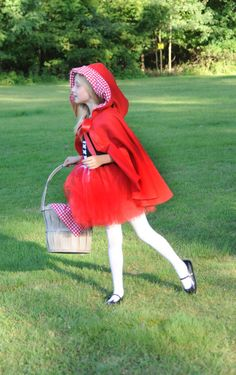Little Red Riding Hood Costume With Fleece by TheSweetLittleLemon, $45.00