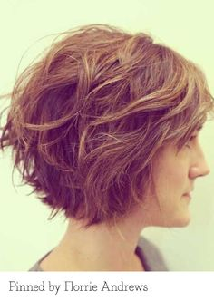 Layered bob. Pinned by Florrie Andrews. Recreate it here... http://myhairdressers.com/hairdressing-training/creative-hair-cutting/flat-layers-disconnection.html