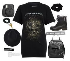 """""""Heavy Metallica"""" by dollz-n-donz ❤ liked on Polyvore featuring River Island, Steve Madden, Marc Jacobs and Fujifilm"""
