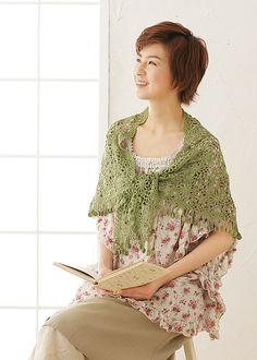 Ravelry: Soft Silk Ramie Triangular Shawl pattern by Pierrot (Gosyo Co., Ltd)