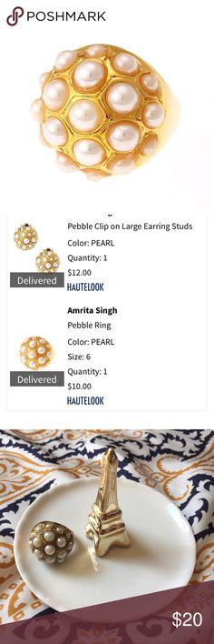 Amrita Singh Pebble Pearl Ring Amrita Singh Pebble Pearl Ring, Sz 6. EUC. 20% off +2 jewelry bundles. Makeup, accessories and kids too! Anthropologie Jewelry Rings