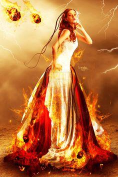 Fire Bride by Kryseis-Retouche.deviantart.com