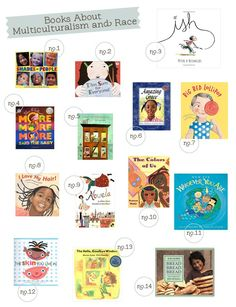 Books about race and multiculturalism that feature children of different ethnic and cultural backgrounds