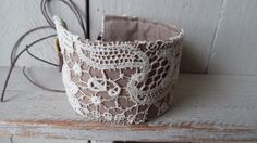 Vintage lace cuff bracelet. by littlebowery on Etsy https://www.etsy.com/listing/176552240/vintage-lace-cuff-bracelet