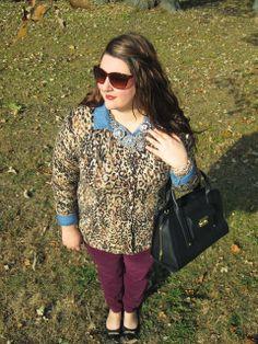 Four Season Fabulous: Leopard, Chambray, + Plum Pants
