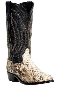 5-Star Rated Dan Post Men's Omaha Python Snake Cowboy Boots #authentic #exotic #snakeskin