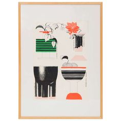 Poster by Ettore Sottsass, 1959   From a unique collection of antique and modern posters at https://www.1stdibs.com/furniture/wall-decorations/posters/