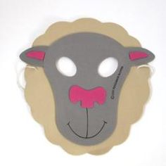 Farm Animal Mask- Sheep  Use this Farm Animal Mask- Sheep for your next farm or barnyard themed birthday party. This lightweight mask the perfect way to complete your costume or wear it for imaginative play.