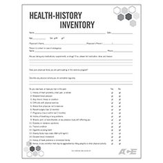 Printable forms for personal trainers that you can download and health history inventory form malvernweather Images