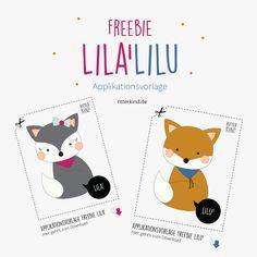 Endlich, meine ersten zwei Freebie Applikationsvorlagen LILA'LILU stehen für euch zum kostenlosen Download bereit » Nähen für Kinder » Applikationsvorlage