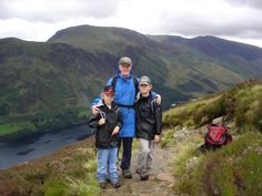 Climbing Red Pike via Bleaberry Tarn and Sour Milk Gill - Buttermere, The Lake District. With my Dad and two sons in August Cumbria, Lake District, My Dad, Climbing, Mountains, Places, Sons, Milk, Travel