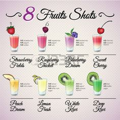 Skinny Margarita Recipe Discover FRESH FRUIT SHOTS SET with fruit decoration - Millions of Creative Stock Photos Vectors Videos and Music Files For Your Inspiration and Projects. Bar Drinks, Cocktail Drinks, Yummy Drinks, Healthy Drinks, Healthy Smoothie Recipes, Tequila Drinks, Healthy Nutrition, Cocktail Recipes, Beverages
