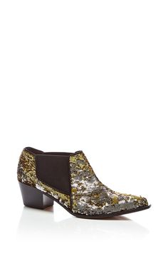 Sequined Low Ankle Boot by SONIA RYKIEL for Preorder on Moda Operandi