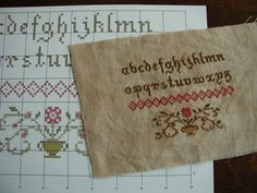 Primitive cross stitch | ... cross stitch design musings by Canadian cross stitch designer, Janet