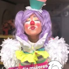Creepy Clown Makeup, Female Clown, Cute Clown, Circus Clown, Clowning Around, Rainbow Aesthetic, Poses, Swag Style, Aesthetic Makeup