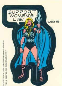An actual Marvel Comics sticker from 1975.