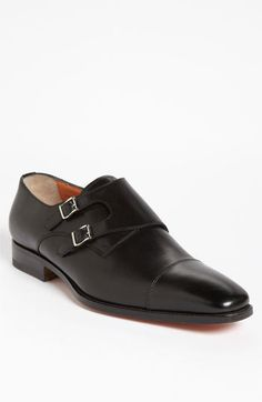 $785, Santoni Sumner Double Monk Strap Slip On. Sold by Nordstrom. Click for more info: https://lookastic.com/men/shop_items/299679/redirect