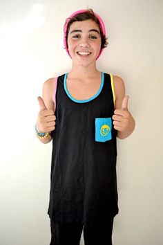OMG i just realized that its a rainbow neff tank top OMFG MY LIFE IS COMPLETE ASDFGHJKL
